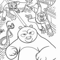 Панда раскраска