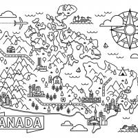 Раскраска Канада