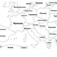 Раскраска европа