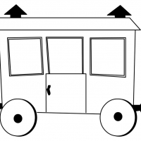 Раскраска вагон