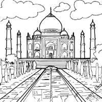 Раскраска индия