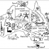 Раскраска австралия