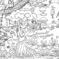 Раскраска джунгли