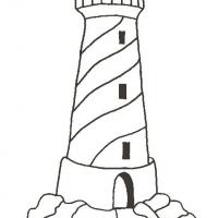 Раскраска маяк
