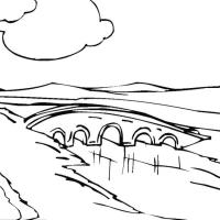 Раскраска мост