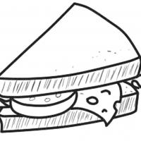 Раскраска бутерброды