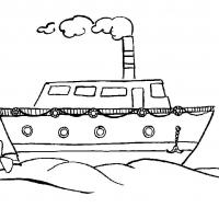 Раскраска пароход