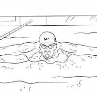 Раскраски плавание