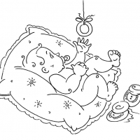 Раскраска подушка