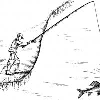 Раскраска рыбалка