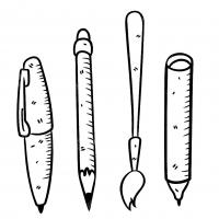 Раскраска ручка