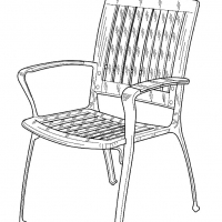 Раскраска стул