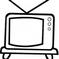 Раскраска телевизор