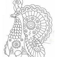 Раскраски дымковская игрушка