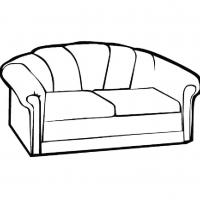 Раскраска диван