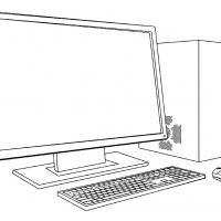 Раскраска компьютер
