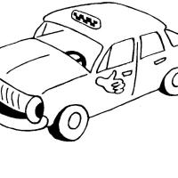 Раскраска такси