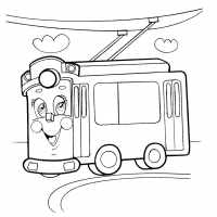 Раскраска троллейбус