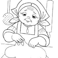 Раскраска бабушка