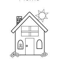 Раскраска домик