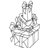 Подарок раскраска