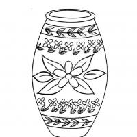 Раскраска ваза