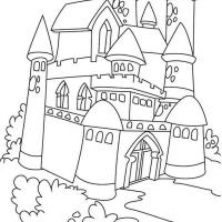 Раскраска замки