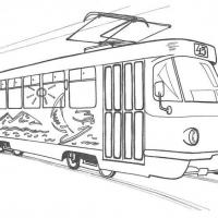 Раскраска трамвай