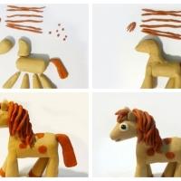 Лошадь из пластилина