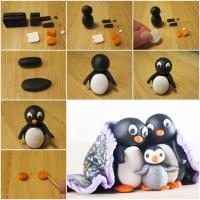 Пингвин из пластилина