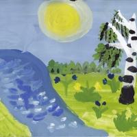 Детский рисунок Родины