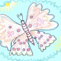 Детский рисунок бабочки