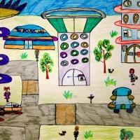 Детские рисунки будущего