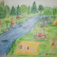 Детские рисунки каникул