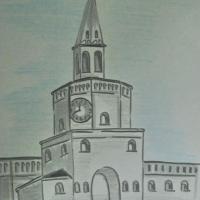 Детский рисунок кремля
