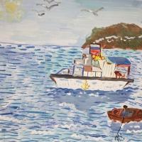 Детский рисунок моря