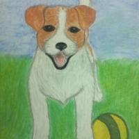 Детский рисунок собаки