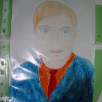 Детский рисунок папы