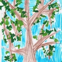 Детские рисунки деревьев