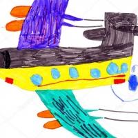 Детский рисунок самолета