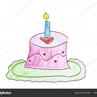 Детский рисунок торта