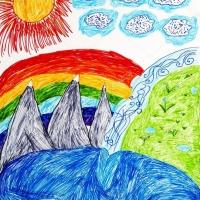Детский рисунок горы