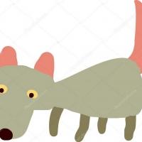 Детский рисунок волка