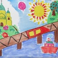 Детские рисунки городов
