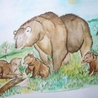 Детский рисунок медведя