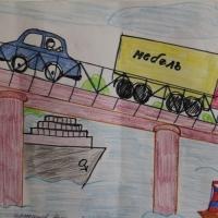 Детский рисунок транспорта
