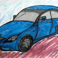 Детский рисунок машины