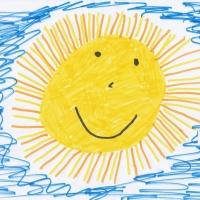 Детский рисунок солнца