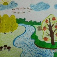 Детские рисунки осени
