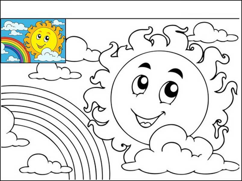 Раскраска с образцом раскрашивания - картинки для детей ...